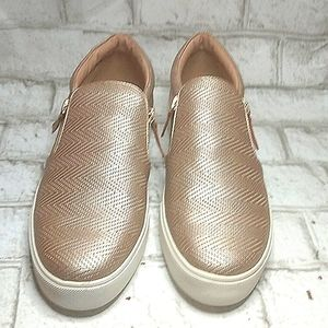Volatile Rose Gold sneakers with zipper size 10
